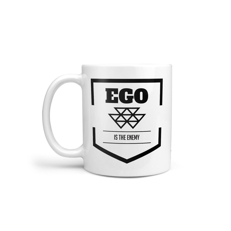 ego is the enemy mug stoic philosophy coffee cup entrepreneur
